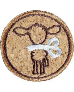Schaf mit Schleife, blau