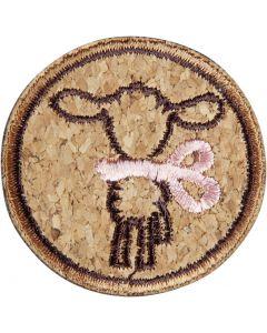 Schaf mit Schleife, rosa