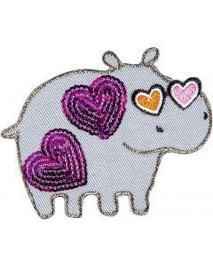 Nilpferd mit Herzen